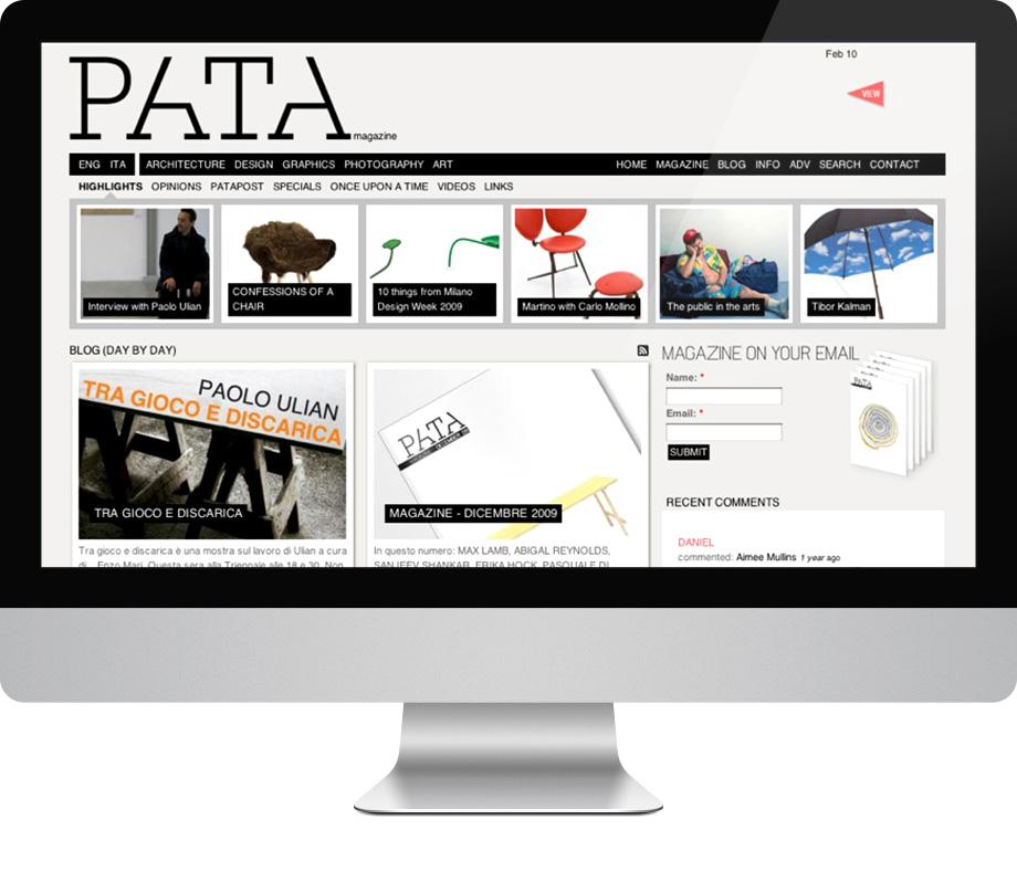 Pata Magazine, home page